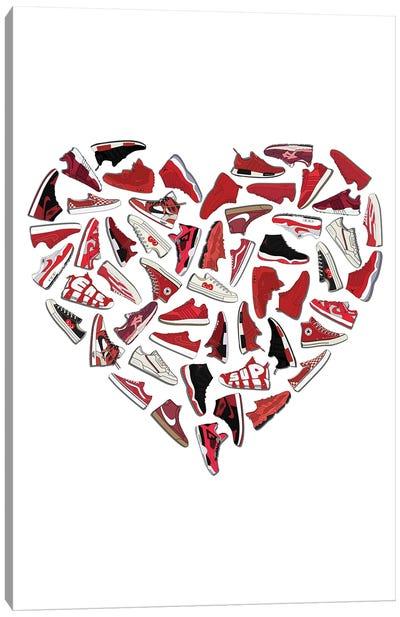 Sneaker Heart Canvas Art Print