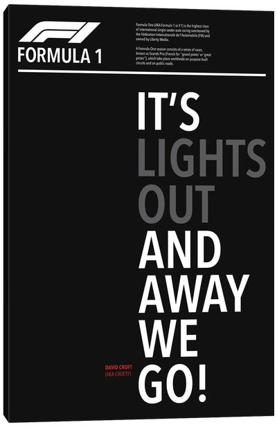It's Lights Out And Away We Go Canvas Art Print