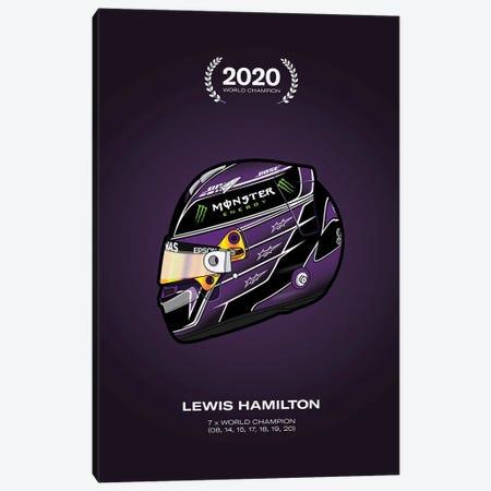Lewis Hamilton Championship Helmet Canvas Print #ASX171} by avesix Canvas Art