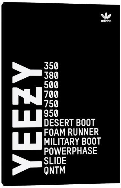 Yeezy (Black) Canvas Art Print