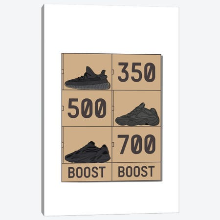 Yeezy V2 Stack Canvas Print #ASX19} by avesix Canvas Art Print
