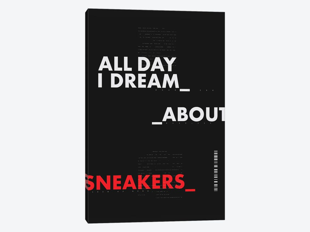 All Day I Dream About Sneakers I by avesix 1-piece Canvas Art Print