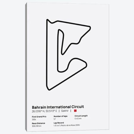F1- Baharain Circuit Canvas Print #ASX203} by avesix Canvas Artwork