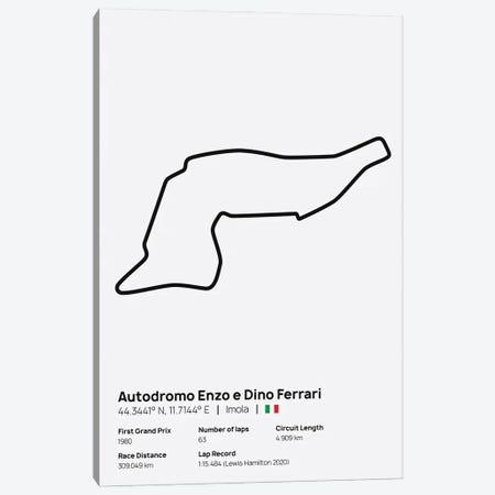 F1- Imola Circuit Canvas Print #ASX221} by avesix Canvas Artwork