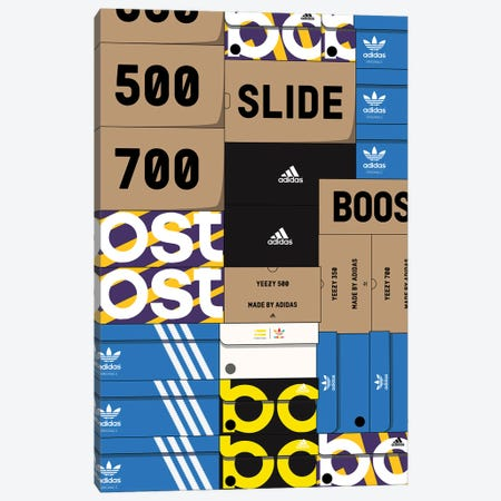 Adidas SneakerBox Canvas Print #ASX22} by avesix Canvas Artwork