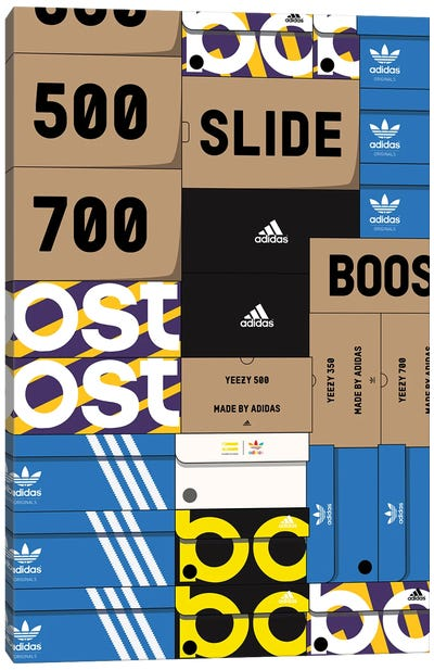 Adidas SneakerBox Canvas Art Print