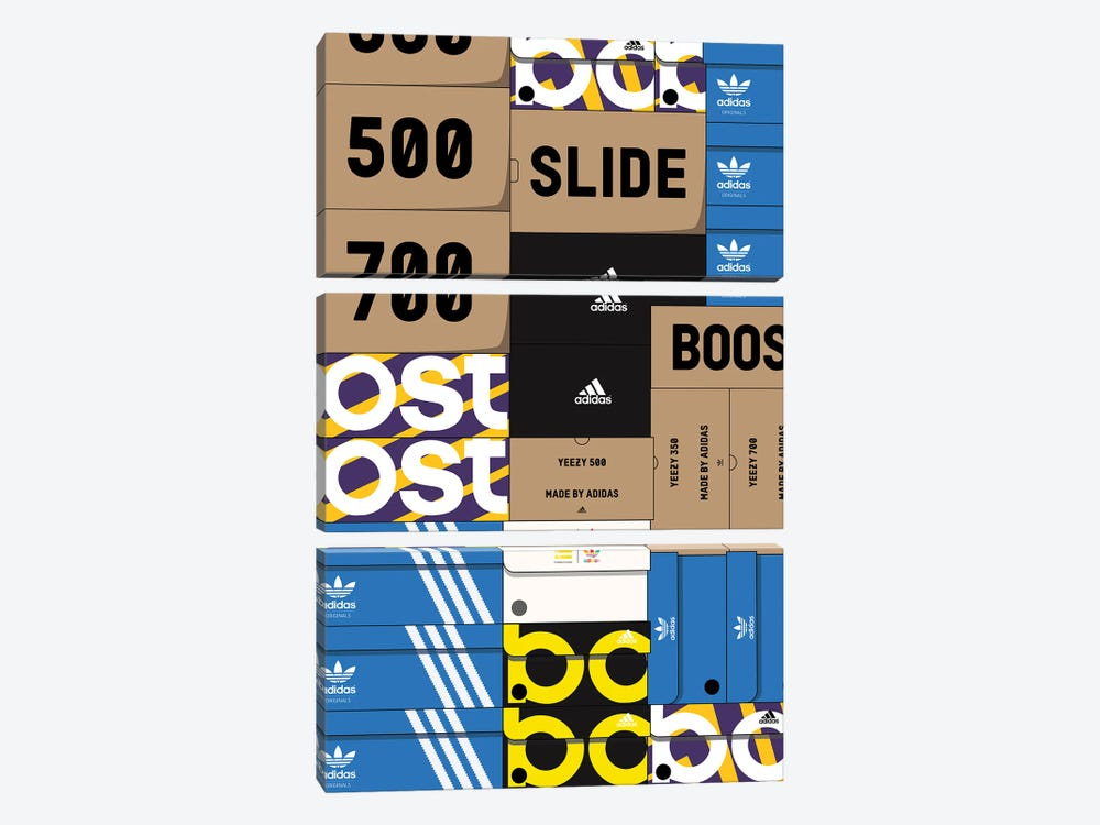 Adidas SneakerBox by avesix 3-piece Canvas Art