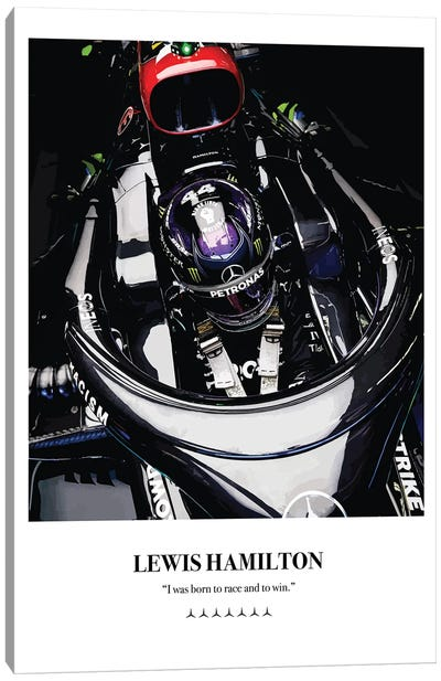 Lewis Hamilton Cockpit Canvas Art Print