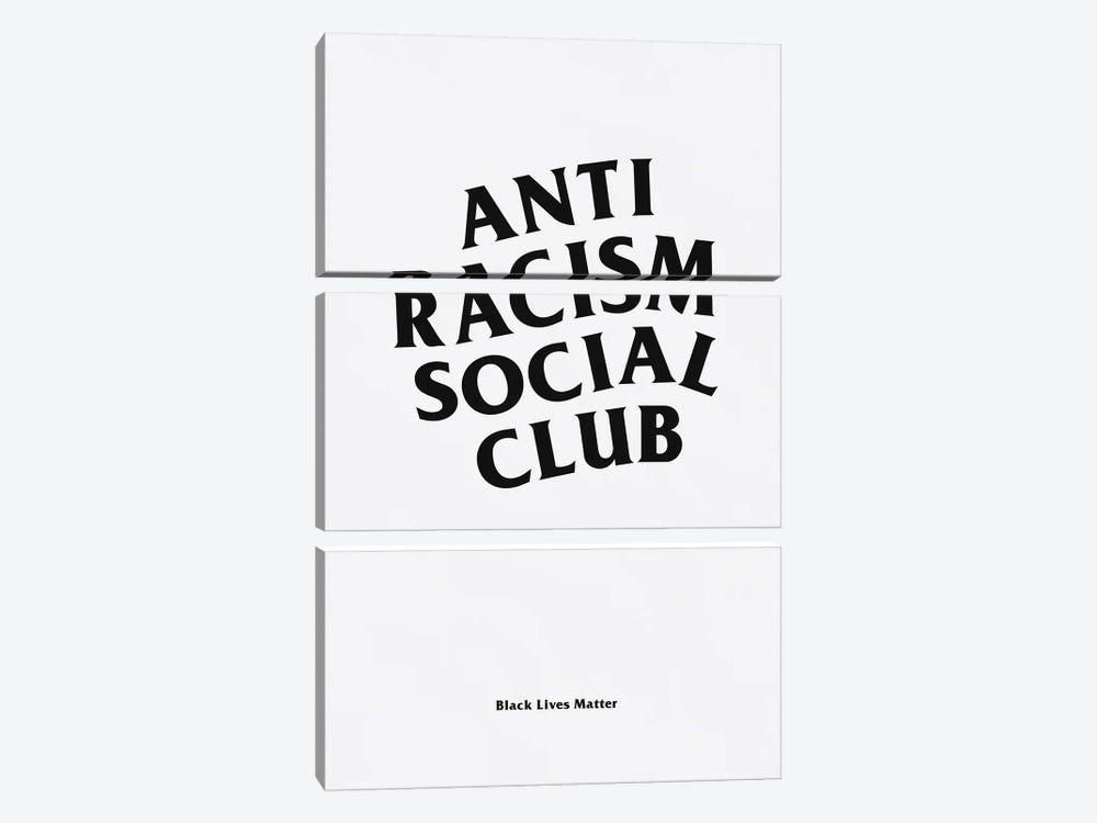 Anti Racism Social Club I by avesix 3-piece Canvas Art Print