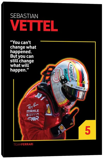Sebastian Vettel (Black) Canvas Art Print