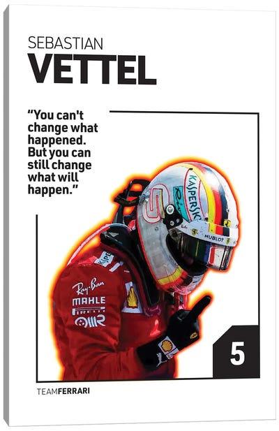 Sebastian Vettel (White) Canvas Art Print