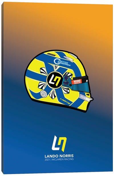 Lando Norris Helmet 2021 (Blue) Canvas Art Print