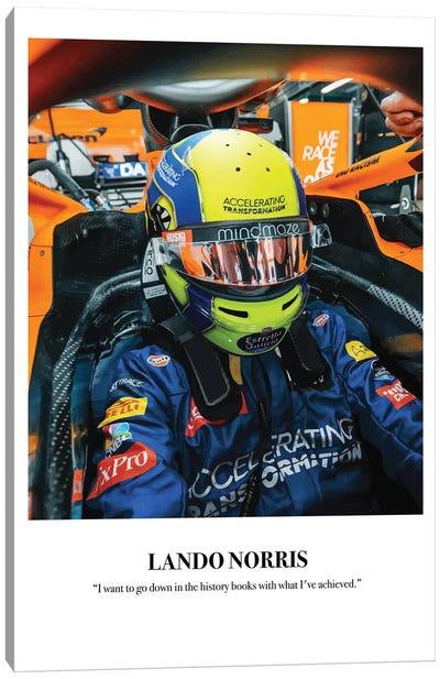 Lando Norris Cockpit Canvas Art Print