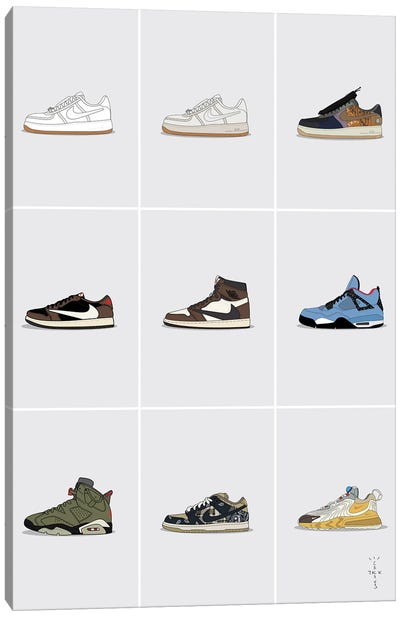 Travis Scott Sneaker Collection Canvas Art Print