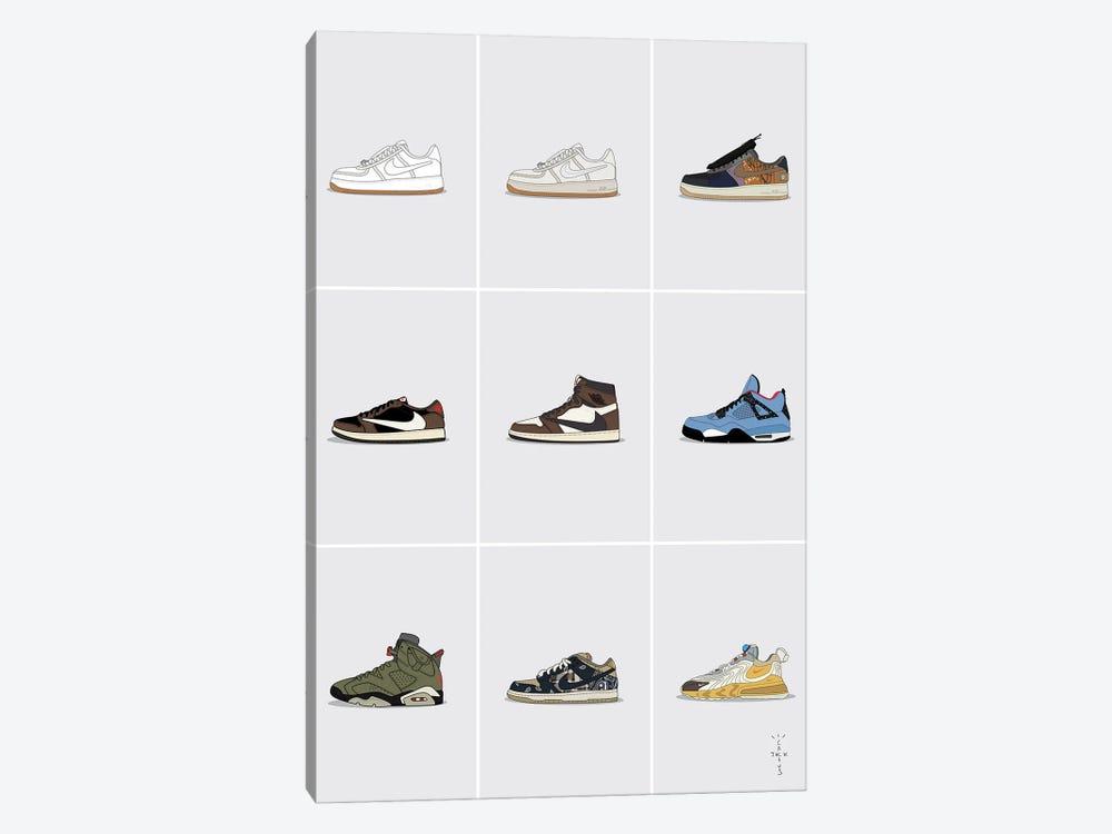 Travis Scott Sneaker Collection by avesix 1-piece Canvas Art Print