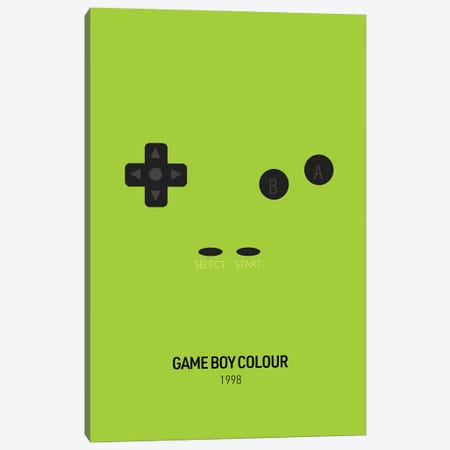 Minimalist Game Boy Colour (Green) Canvas Print #ASX270} by avesix Canvas Print