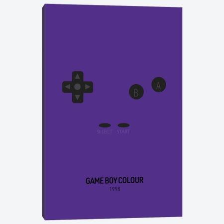 Minimalist Game Boy Colour (Purple) Canvas Print #ASX271} by avesix Canvas Art Print