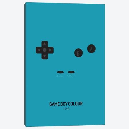 Minimalist Game Boy Colour (Teal) Canvas Print #ASX272} by avesix Art Print