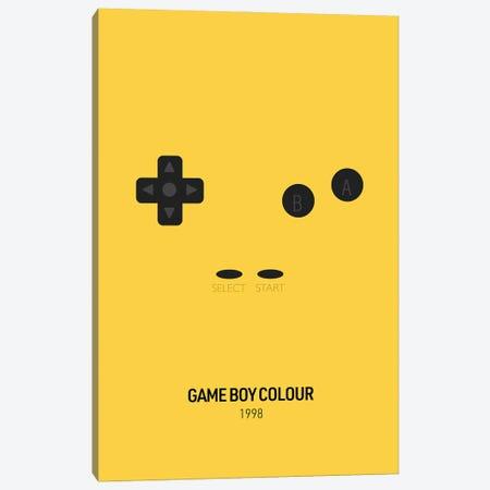 Minimalist Game Boy Colour (Yellow) Canvas Print #ASX273} by avesix Canvas Art Print