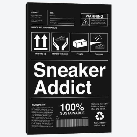 Sneaker Addict I Canvas Print #ASX2} by avesix Canvas Artwork