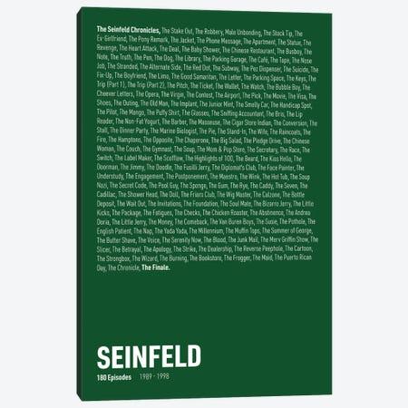 Seinfeld Episodes (Green) Canvas Print #ASX311} by avesix Canvas Artwork