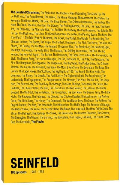 Seinfeld Episodes (Yellow) Canvas Art Print