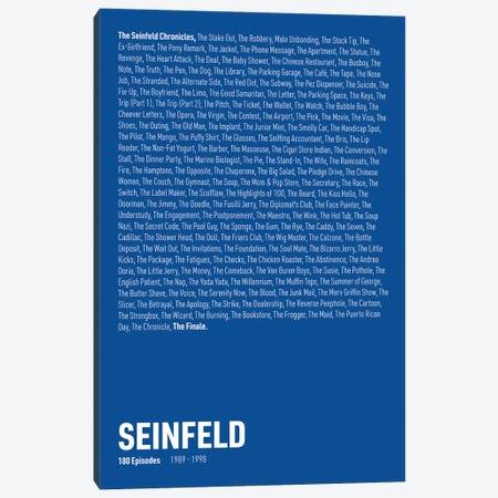 Seinfeld Episodes (Blue) Canvas Print #ASX315} by avesix Canvas Art Print