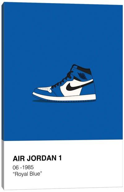 Air Jordan 1 Polaroid (Blue) Canvas Art Print