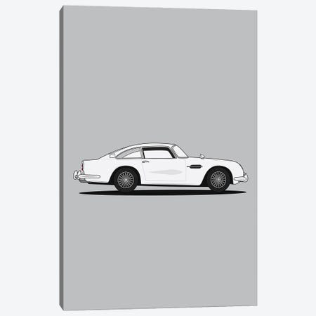 Aston Martin DB5 (Silver Edition) Canvas Print #ASX36} by avesix Canvas Art