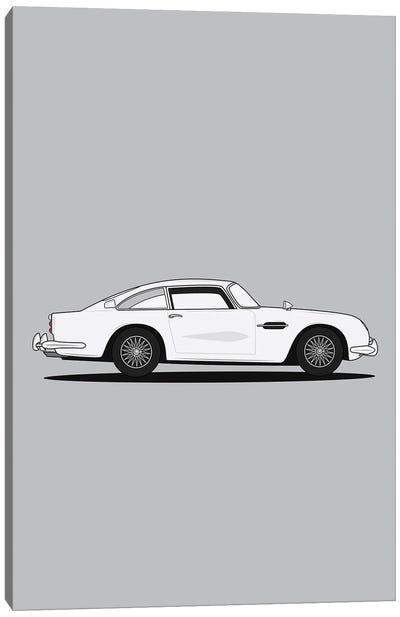 Aston Martin DB5 (Silver Edition) Canvas Art Print