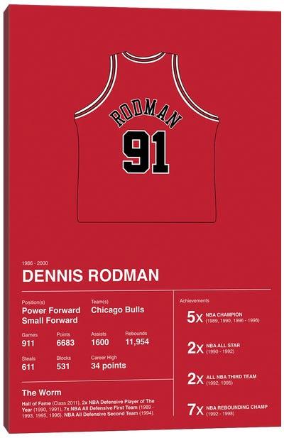 Dennis Rodman Career Stats Canvas Art Print