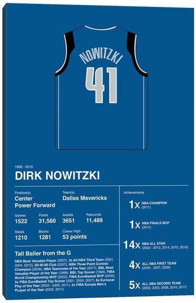 Dirk Nowitzki Career Stats Canvas Art Print