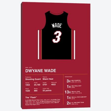 Dwyane Wade Career Stats Canvas Print #ASX373} by avesix Canvas Artwork