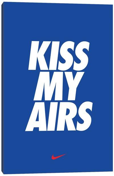 Kiss My Airs (Blue) Canvas Art Print