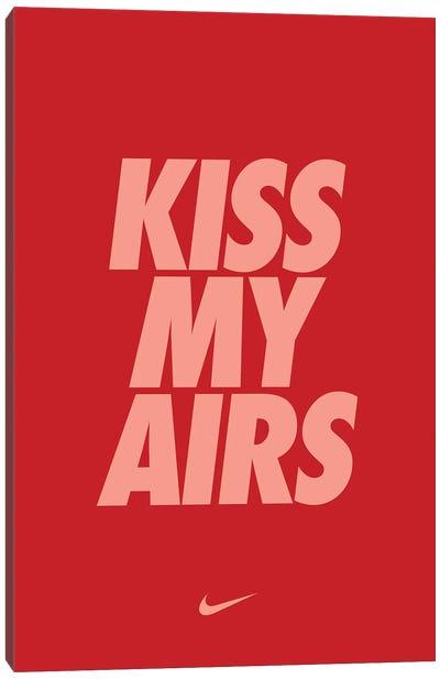 Kiss My Airs (Red) Canvas Art Print