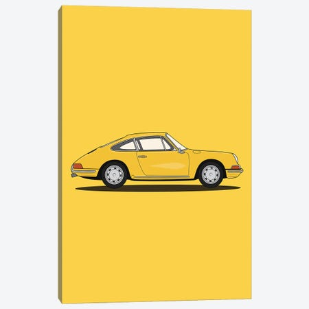 Porsche 911-901 (Yellow Edition) Canvas Print #ASX37} by avesix Canvas Artwork