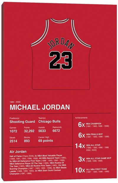 Michael Jordan Career Stats Canvas Art Print