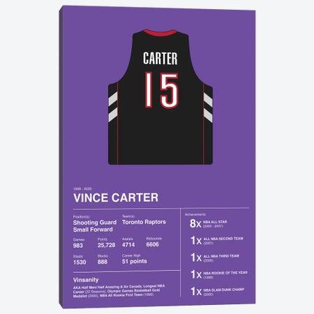 Vince Carter Career Stats Canvas Print #ASX391} by avesix Canvas Wall Art