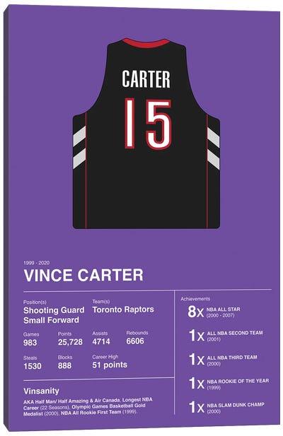 Vince Carter Career Stats Canvas Art Print