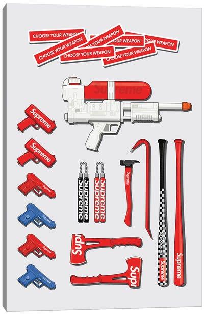 Choose Your Weapon Canvas Art Print