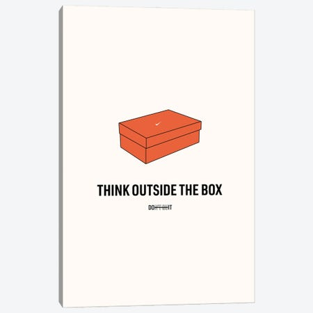 Think Outside The Box Canvas Print #ASX41} by avesix Canvas Wall Art