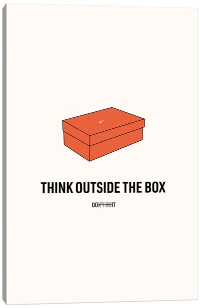 Think Outside The Box Canvas Art Print
