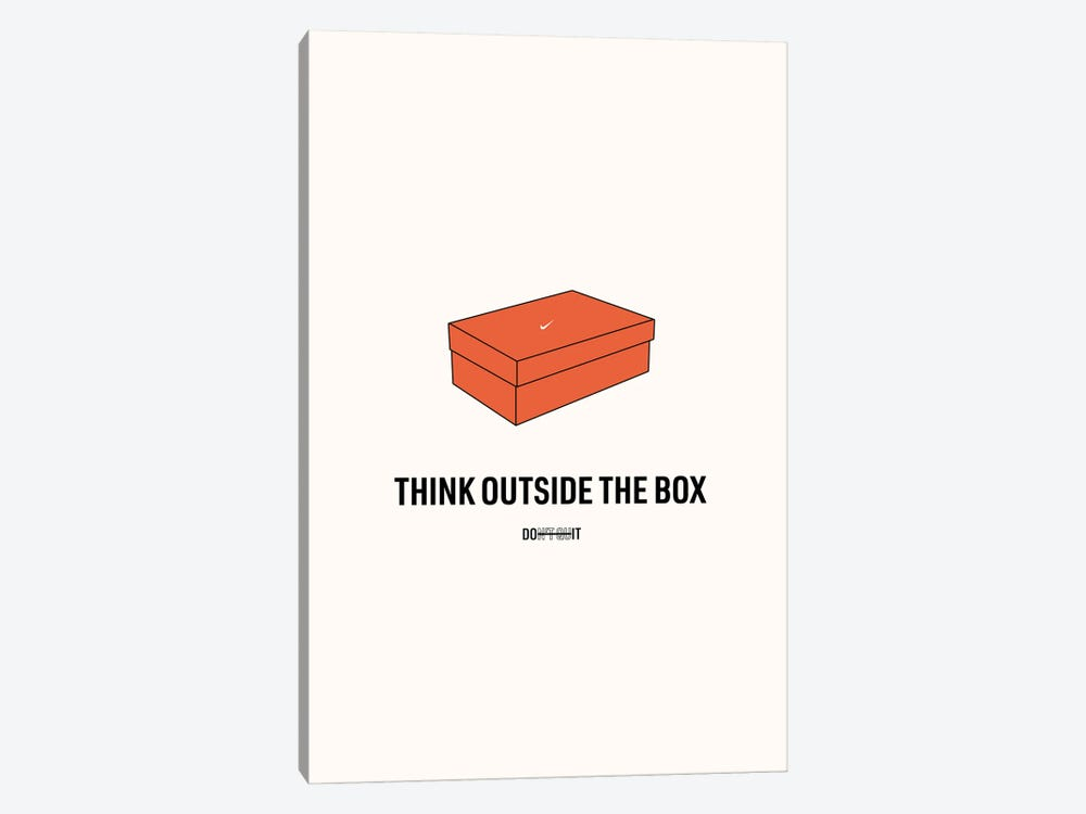 Think Outside The Box by avesix 1-piece Canvas Art Print