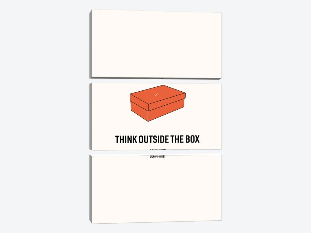 Think Outside The Box by avesix 3-piece Canvas Print