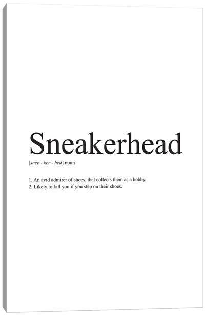 Sneakerhead Definition Canvas Art Print