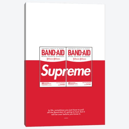 Supreme Band Aid Canvas Print #ASX47} by avesix Canvas Art Print