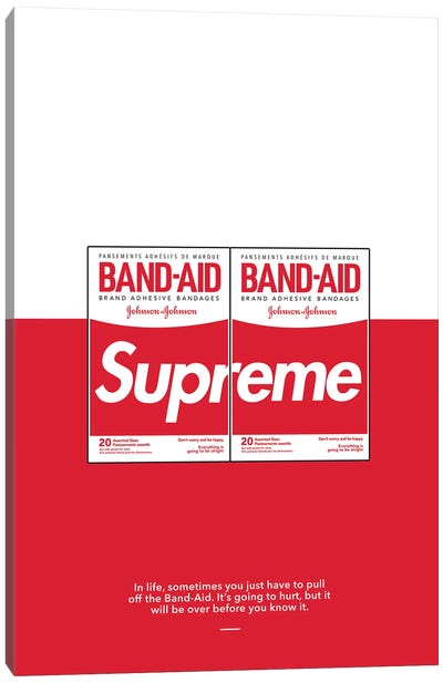 Supreme Band Aid Canvas Art Print