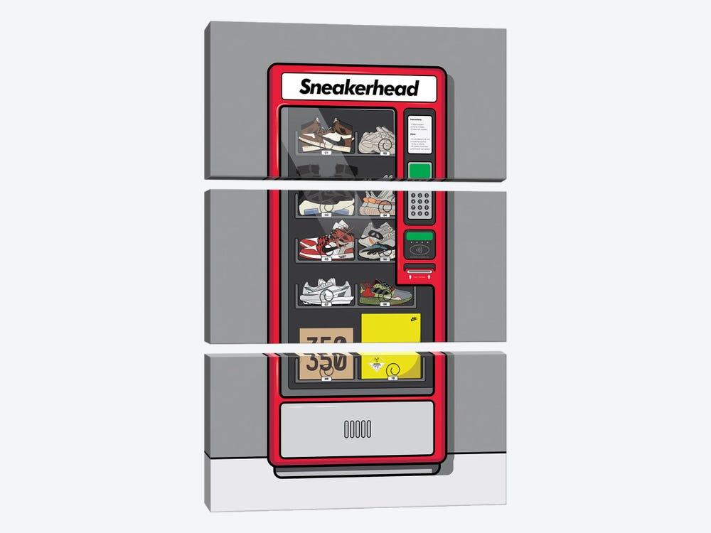 Sneaker Vending Machine by avesix 3-piece Canvas Artwork
