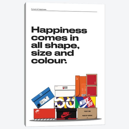 Happiness Canvas Print #ASX52} by avesix Canvas Art Print