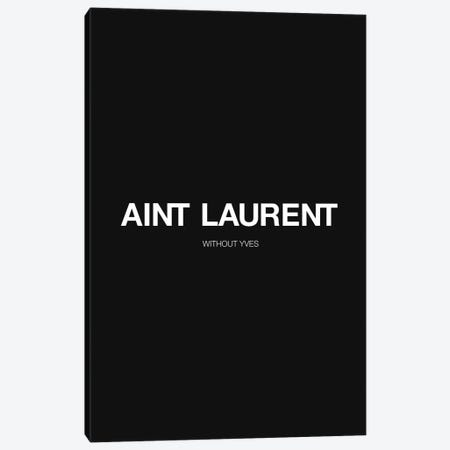 YSL (Black Edition) Canvas Print #ASX57} by avesix Canvas Art